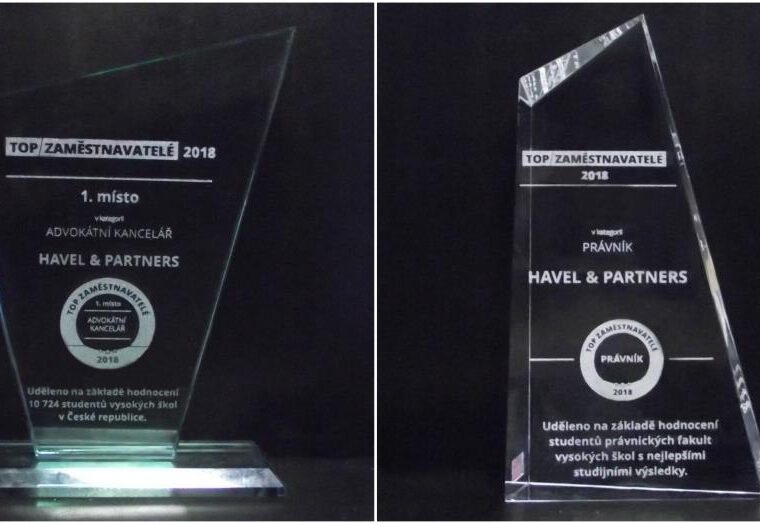 HAVEL & PARTNERS is the most attractive employer among law firms in the Czech Republic for the fourth consecutive year